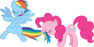 Pinkie Pie tastes the Rainbow by dasprid