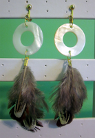 Feather Clip On Earrings by BloodRed-Orchid
