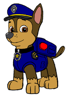 Chase - PAW Patrol by KingLionelLionheart
