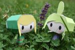Link and Tetra- A Flower For You by NinjaFreak47