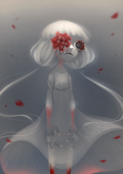 Red Flower. by Meammy