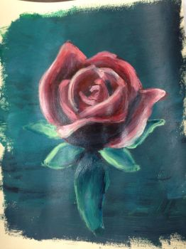 Painting of a Rose by TheDrumMajor