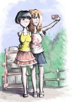 Selfie with my girlfriend by hielga