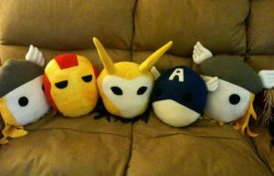 The Avengers pillow/plushies by sjennisca