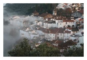 Castelo de Vide in Fog II by FilipaGrilo
