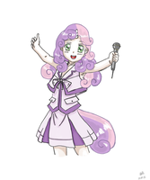 Humanized Sweetie Belle by issir