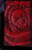 GCSE quilted rose, in red by KidnapTheSandyClaws