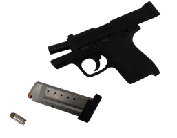 Smith and Wesson MP40 with magazine - PNG by ObnoxiousNox