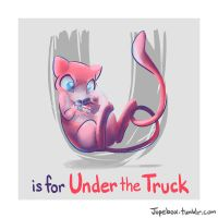 U is for Under the Truck by Jupeboxgal