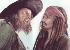 Captain Barbossa + Jack by ktalbot