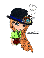 Steampunk hat colored by my brother by JadeDragonne