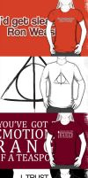 Harry Potter shirts and hoodie by KateBloomfield