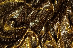 Gold on black metallic folds by paintresseye
