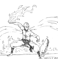 Adult Aang by SoDrawnOut