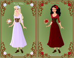 Snow White and Rose red by barasara93
