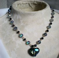 Glass Heart Necklace by Petite-Royale