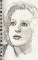 Scully Sketch by StandsWithAPencil