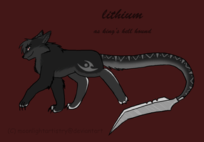 Lithium The Hellhound by moonlightartistry