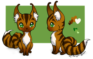 Curlytail Fox Adopt #01 [OPEN] by Morgan-Draws
