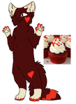 Red Velvet Cupcake Cat [OPEN] by Sin-Children-Adopts