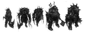 ideation sketches of monsters by JohnMcCambridge