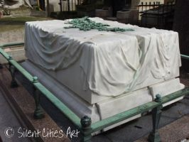 Draped marble coffins by Silent-Cities