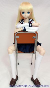Charlotte and School Chair by AnimatorAR