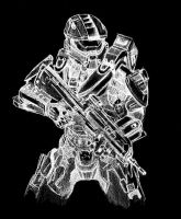 Ghost of Onyx Spartan 4 armor by Granados101