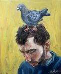 pigeon and man by LikeBenjiReadingOvid