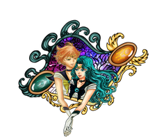 Sailor Uranus and Sailor Neptune by Diva-Sama-Nyx