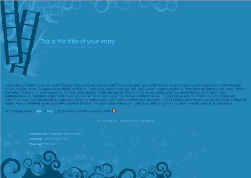 01 Blue Film CSS Layout by ck-resources