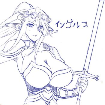 Cerea Monster Monsune Oppai / Wacom/ Sketch by Ingerusu