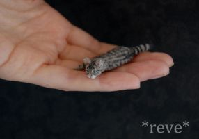 Miniature Cat Handmade Sculpture by ReveMiniatures