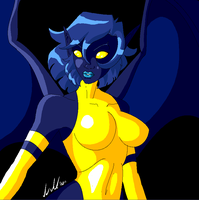 Original X-Men - Blue Devil by Chibi-Warmonger