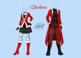 Fashion challenge 1: Christmas by Geminine-nyan