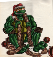 TMNT Mikey Merry Christmas! by GlandEnce