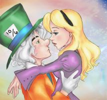 Alice and Hatter Color by ARTvatard