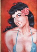 Bettie page by lestathDelioncourt