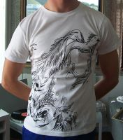 Dragon Wave Shirt Printed by mooray