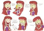 Starfire Says the DARNDEST Things by nerdsman567