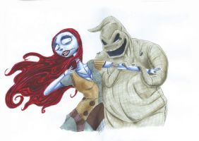 Sally and Oogie Boogie by MeltingDragon