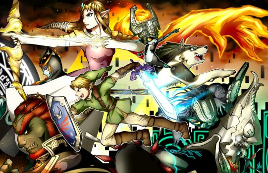 The Legend of Zelda: Twilight Princess by Smudgeandfrank