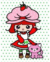 Strawberry Shortcake and Custa by SaraLaneDesigns