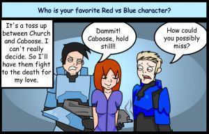 Red Vs Blue: Favorites by Criana
