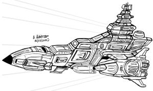 My Own version of Musai Class Cruiser drawing by archaznable30