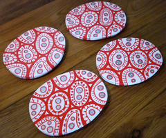 4 x Amoeba Coasters by moopf