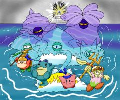 Kirby OoD Ch. 7 Scene-Amoebeo the Moisture Monster by ChronoWeapon