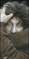 Tom Baker Signed Artwork by caldwellart