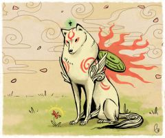 Okami Amaterasu by Canvascope