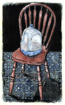 Bottle and Chair by gojo730